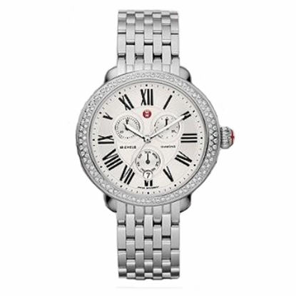 Picture of Michele Ladies' Serein Diamond Stainless Steel Watch
