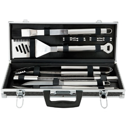 Picture of Mr. Bar-B-Q 18-Piece Barbecue Tool Set With Aluminum Case