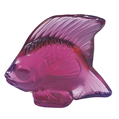Picture of Lalique Fish Figurine - Fuschia