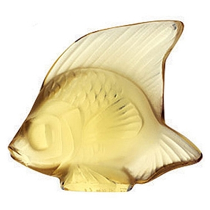 Picture of Lalique Fish Figurine - Gold