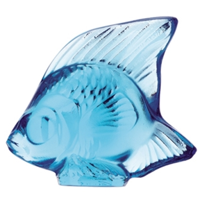 Picture of Lalique Fish Figurine - Light Blue