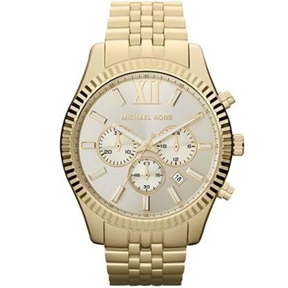 Picture of Michael Kors Men's Lexington Gold-Tone Chronograph Watch