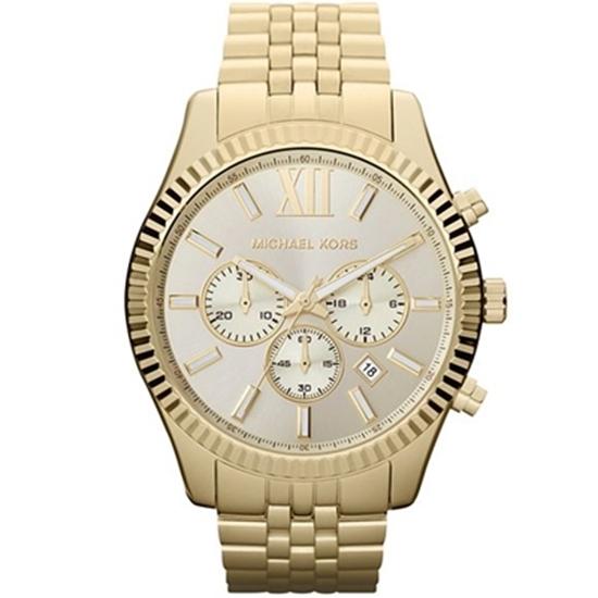 Picture of Michael Kors Men's Lexington Gold-Tone Chronograph Watch