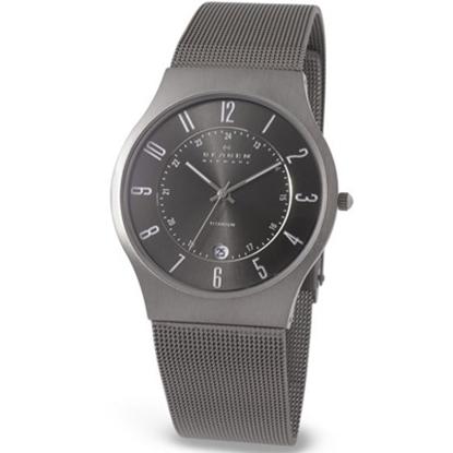 Picture of Skagen Men's Titanium Mesh Watch - Grey Dial