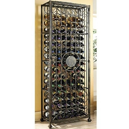 Picture of Wine Enthusiast 96-Bottle Antiqued Steel Wine Jail