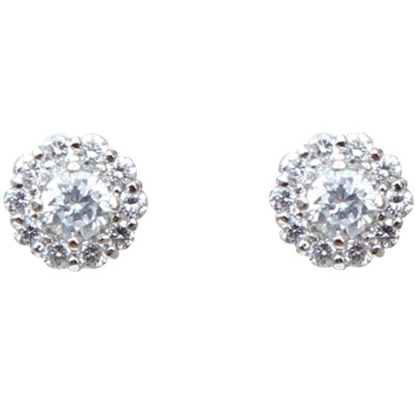 Picture of Nadri Carnation Stud Earrings