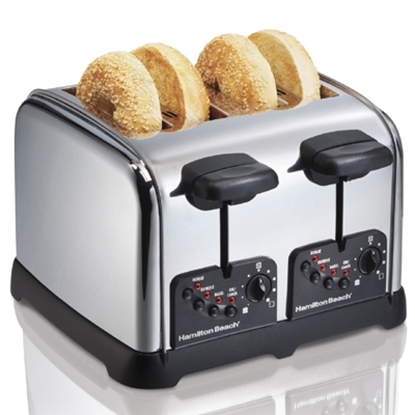 Picture of Hamilton Beach® Classic Chrome 4 Slice Toaster