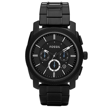Picture of Fossil® Men's Machine Black Ion-Plated Stainless Steel Watch