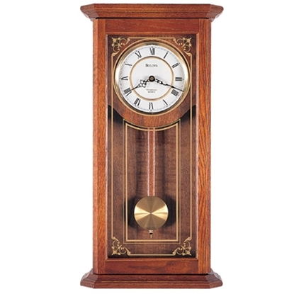 Picture of Bulova Cirrus Solid Oak Wall Clock