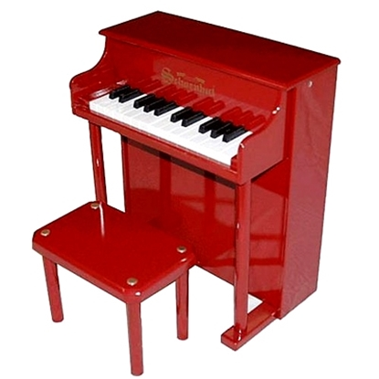 Picture of Schoenhut 25-Key Traditional Spinet Piano - Red