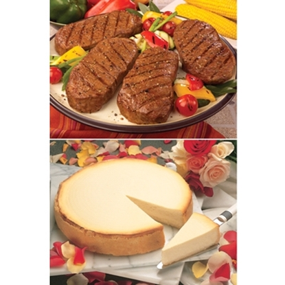 Picture of Omaha Steaks® Boneless Strips and Cheesecake