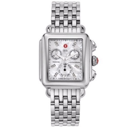 Picture of Michele® Deco Day Watch with Diamond Dial