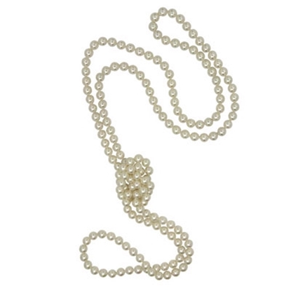 "Picture of Majorica 60"" White Pearl Endless Rope Necklace"