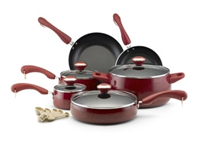 Picture of Paula Deen 15-Piece Cookware Set - Red