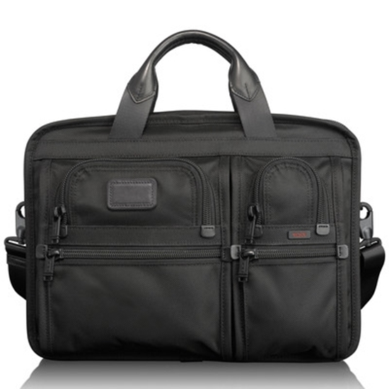 Picture of Tumi Alpha 2 T-Pass Medium Laptop Slim Brief -Black
