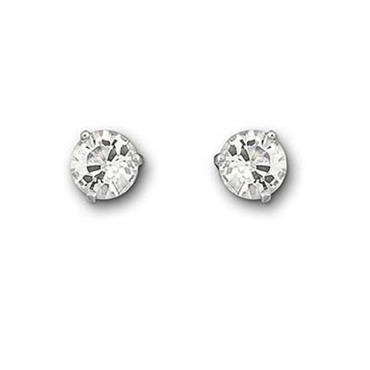 Picture of Swarovski Solitaire Pierced Earrings