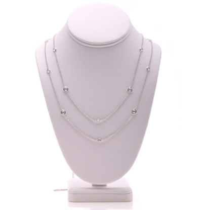 "Picture of Nadri 54"" Bezel-Set Station Necklace"