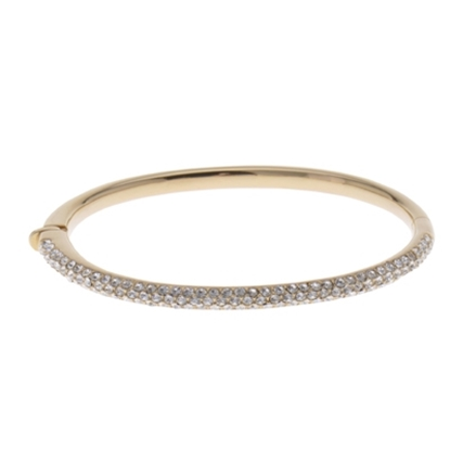 Picture of Nadri 18K Hinged Oval Bangle Bracelet