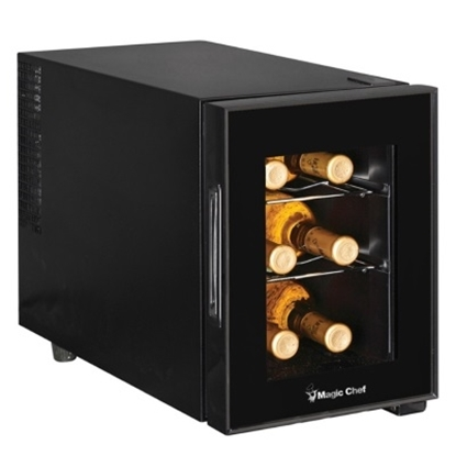 Picture of Magic Chef 6-Bottle Wine Cooler - Black