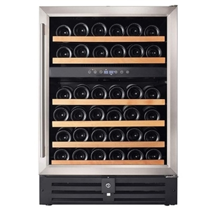 Picture of Smith & Hanks 46-Bottle Dual Zone Under Counter Wine Fridge