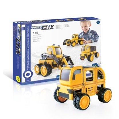 Picture of Guidecraft PowerClix Construction Vehicle Set