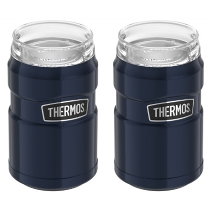 Picture of Thermos® Stainless King Insulator - 2-Pack/Midnight Blue
