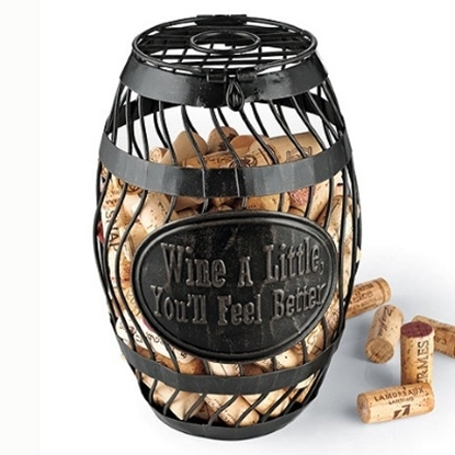 Picture of Wine Enthusiast ''Wine A Little'' Wine Barrel Cork Catcher