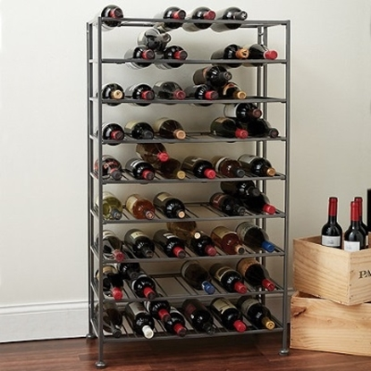 Picture of Wine Enthusiast 54-Bottle Folding Metal Wine Rack