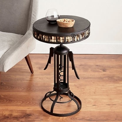 Picture of Wine Enthusiast Corkscrew End Table