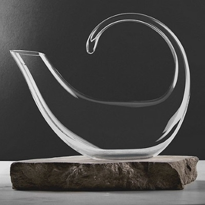 Picture of Wine Enthusiast Art Series Crescent Decanter
