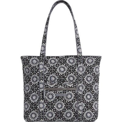 Picture of Vera Bradley Iconic Vera Tote - Charcoal Medallion