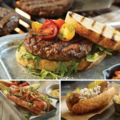 Picture of Omaha Steaks Tailgating Favorites - Burgers, Franks, & Brats