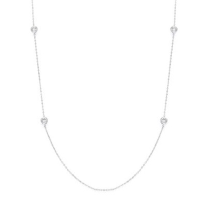 Picture of Nadri Chanel Cubic Zirconia 36'' Long Station Necklace