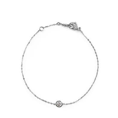 Picture of Nadri Chanel 4mm Cubic Zirconia Line Bracelet - Rhodium