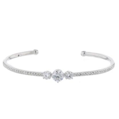 Picture of Nadri Crystal Cuff Bracelet - Rhodium
