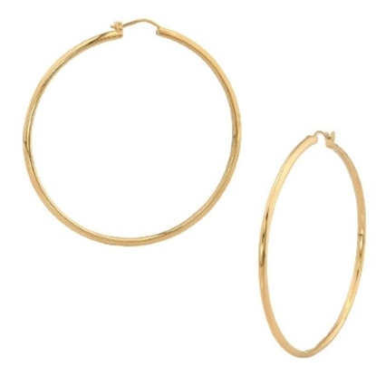Picture of Nadri 2'' Round Gold-Tone Hoop Earrings