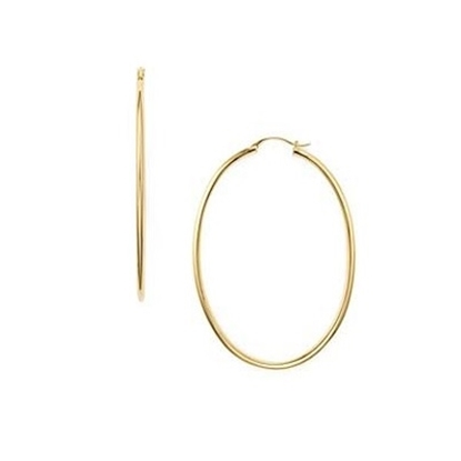 Picture of Nadri 2'' Oval Gold-Tone Hoop Earrings