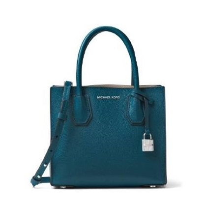 Picture of Michael Kors Mercer Medium Messenger - Luxe Teal