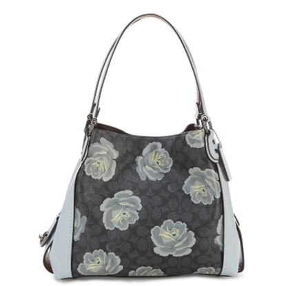 Picture of Coach CC Signature Rose Print Edie 31 - Charcoal/Sky