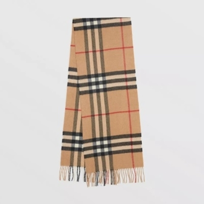 Picture of Burberry Classic Cashmere Scarf - Camel Check