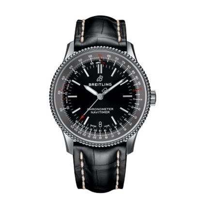 Picture of Breitling Navitimer 1 Auto 38 - Black Leather/Dial