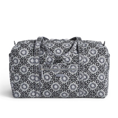 Picture of Vera Bradley Iconic Large Duffel - Charcoal Medallion