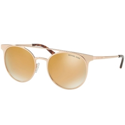 Picture of Michael Kors Grayton Brow Bar Sunglasses with Rose Gold Lens