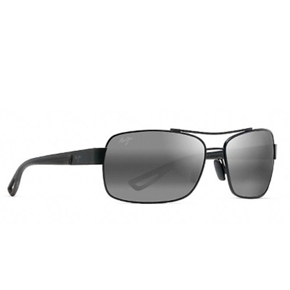 Picture of Maui Jim Ola Polarized Aviator with Black Matte/Grey Lens