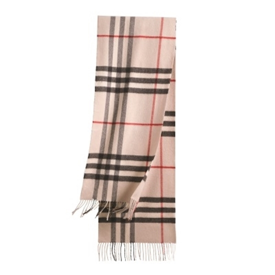 Picture of Burberry Giant Check Cashmere Scarf - Trench