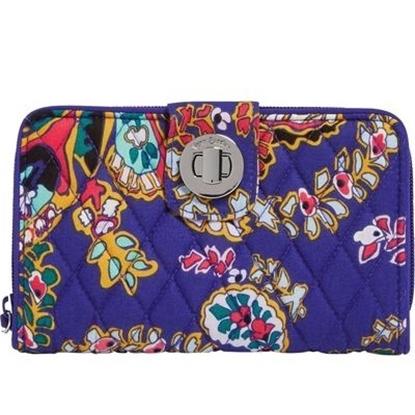 Picture of Vera Bradley RFID Turnlock Wallet