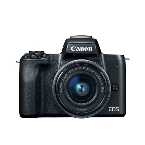 Picture of Canon Mirrorless DSLR with 15-45mm Lens and SD Card