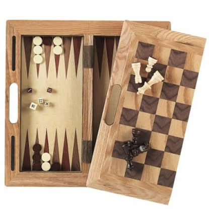 Picture of Mainstreet Classics 3-in-1 Wood Game Set