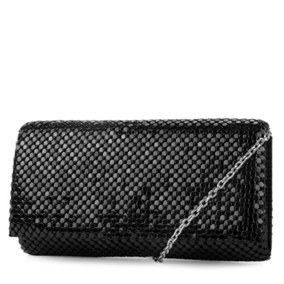 Picture of Jessica McClintock Metal Mesh Roll Bag - Black