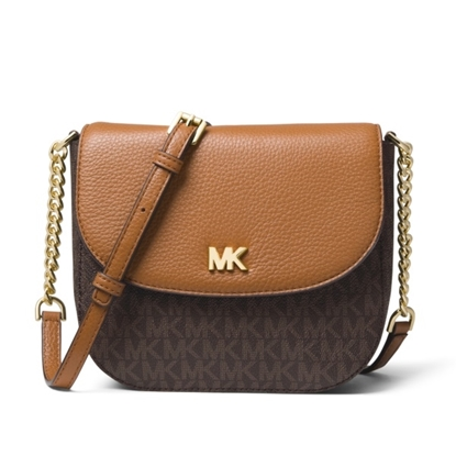 Picture of Michael Kors Signature Half Dome Crossbody - Brown/Acorn